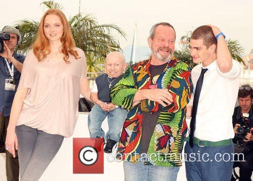 Lily Cole, Terry Gilliam and Verne Troyer 8