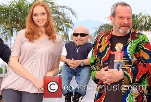 Lily Cole, Verne Troyer, Terry Gilliam 2009 Cannes...