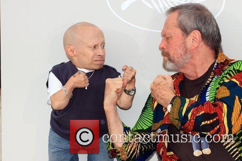 Verne Troyer and Terry Gilliam 2009 Cannes International...