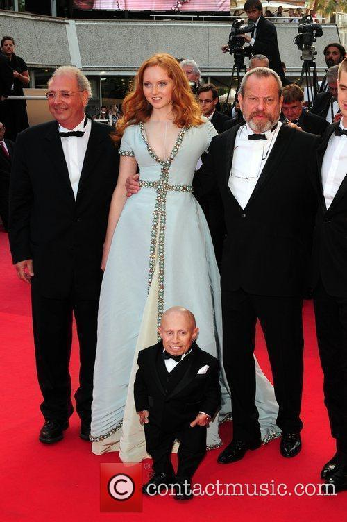 Verne Troyer, Lily Cole and Terry Gilliam 1