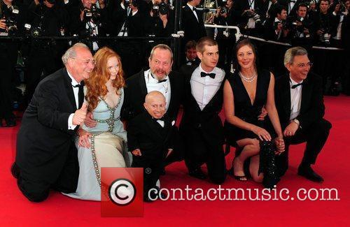 Verne Troyer, Lily Cole and Terry Gilliam 6