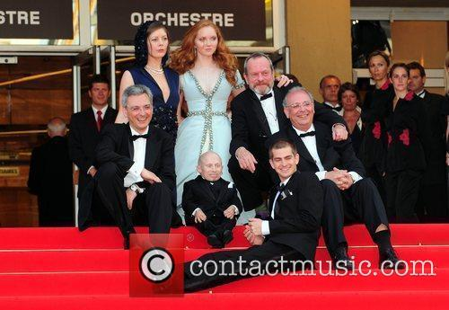 Verne Troyer, Lily Cole and Terry Gilliam 9