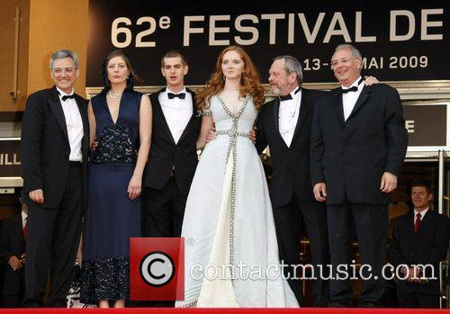 Andrew Garfield, Lily Cole and Terry Gilliam 1