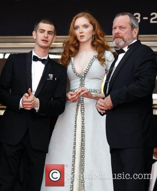 Andrew Garfield, Lily Cole and Terry Gilliam 2