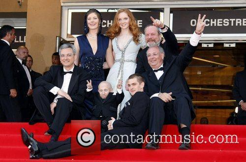 Verne Troyer, Lily Cole and Terry Gilliam 4