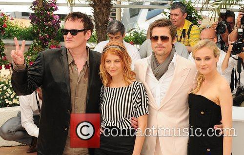 Brad Pitt, Diane Kruger and Quentin Tarantino 1