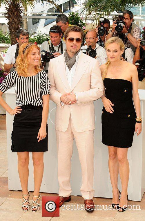 Brad Pitt, Diane Kruger and Melanie Laurent 2009...