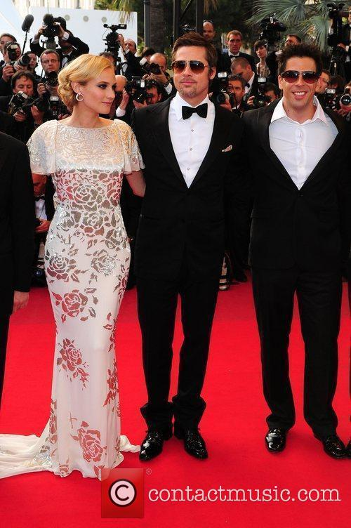 Diane Kruger and Brad Pitt 2009 Cannes International...