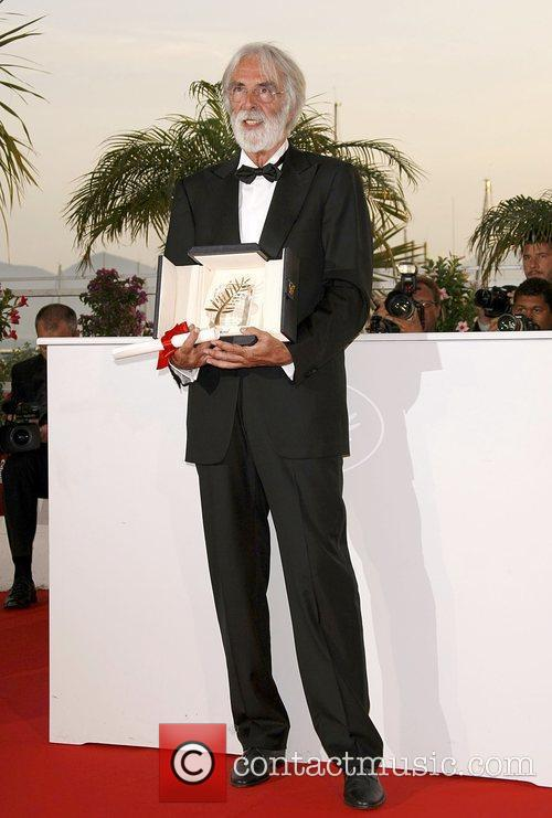 Director Michael Haneke With The Palme D'or 1
