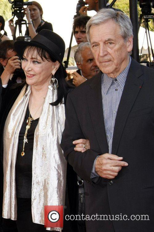 Anna Karina and Constantin Costa-gavras