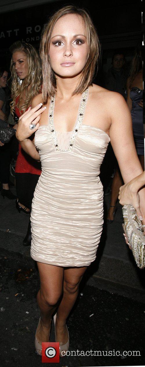 Chanelle Hayes leaves Funky Buddah nightclub London, England