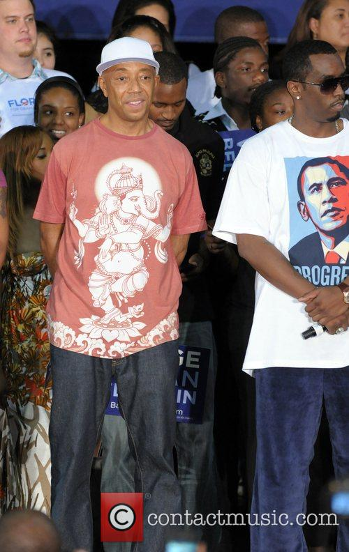 Russell Simmons and P Diddy Speaking At The Last Chance For Change Rally At Florida Memorial College 2