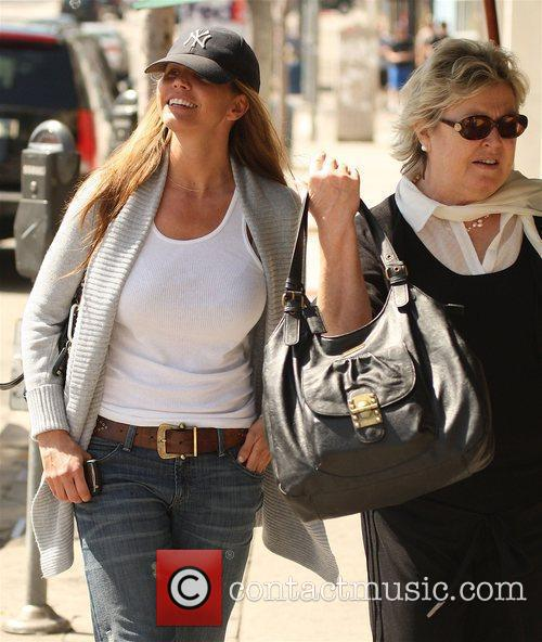 Charisma Carpenter shopping with her mother on Sunset...