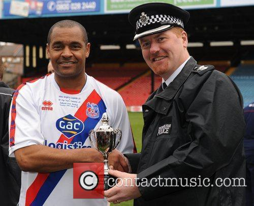 Mark Bright Is Presented With The Trophy 4