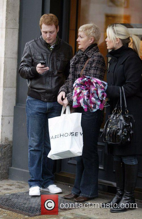 Shopping on Bond Street with his family
