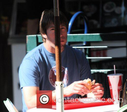 charlie o' connell having lunch with a female companion in hollywood. 2332777