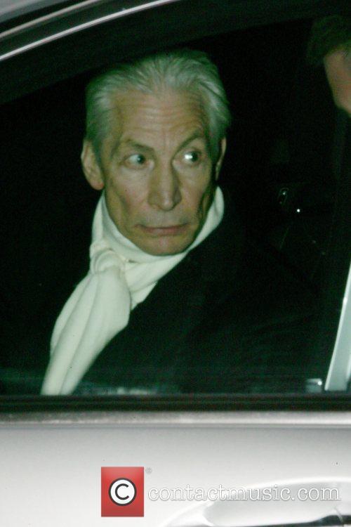 Charlie Watts leaving La Petite Maison restaurant after...