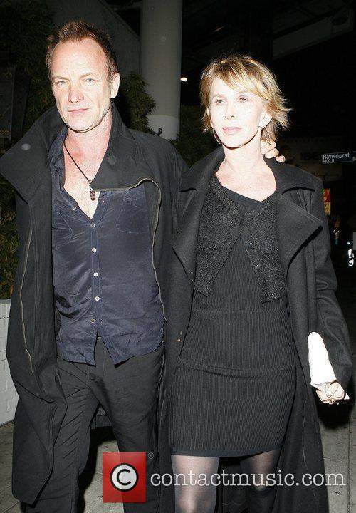 Sting and Trudie Styler at Chateau Marmont