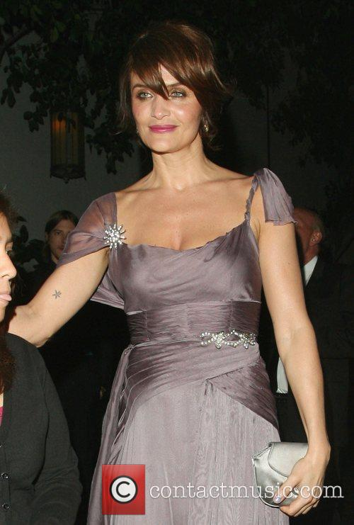 Helena Christensen leaving Chateau Marmont