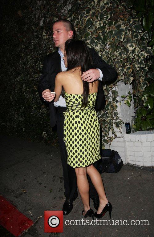 Channing Tatum & Jenna Dewon Leaving the Chateau...