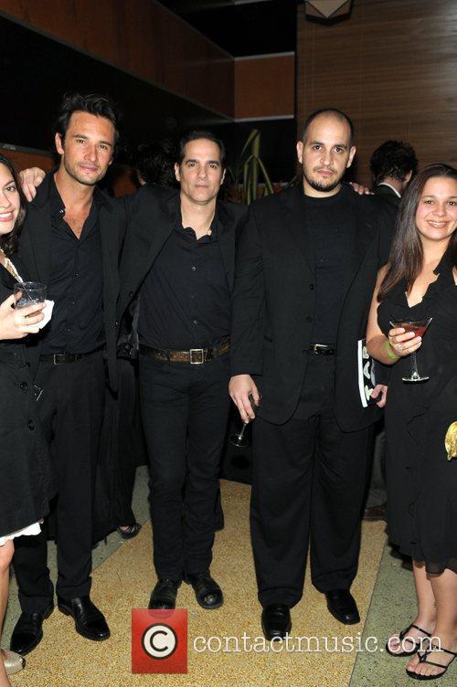 Rodrigo Santoro, Yurl Vazquez and guests at the...