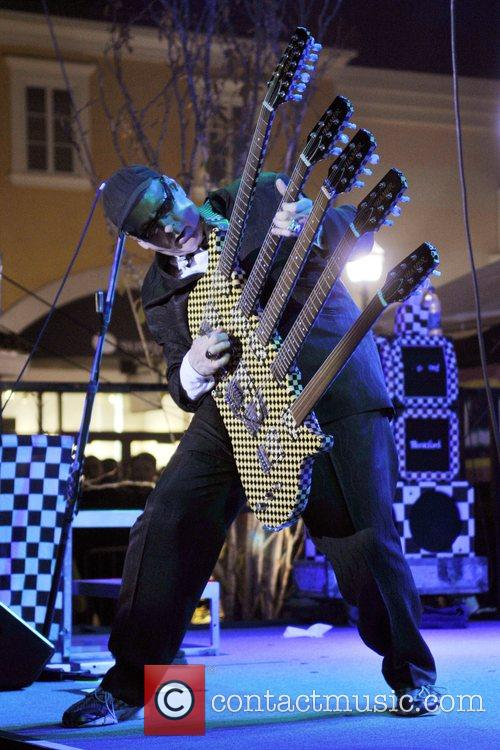 Rick Nielsen CheapTrick performs live on stage at...