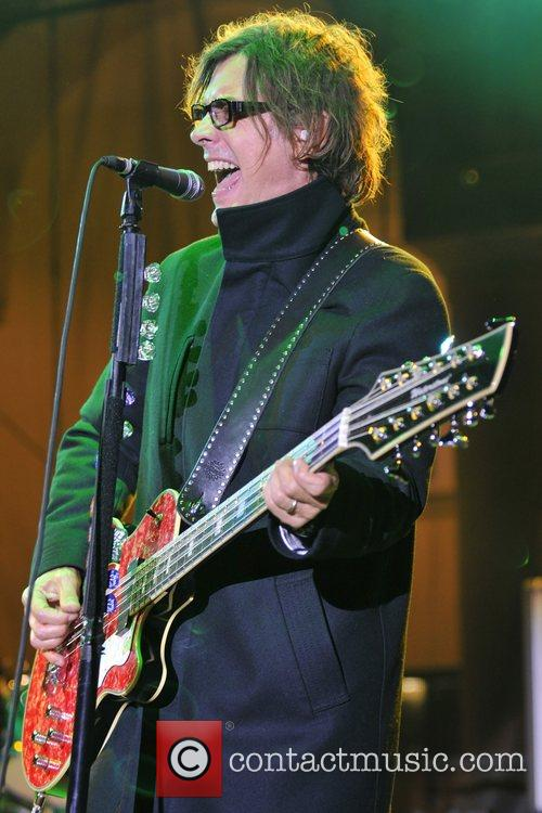 Tom Petersson CheapTrick performs live on stage at...