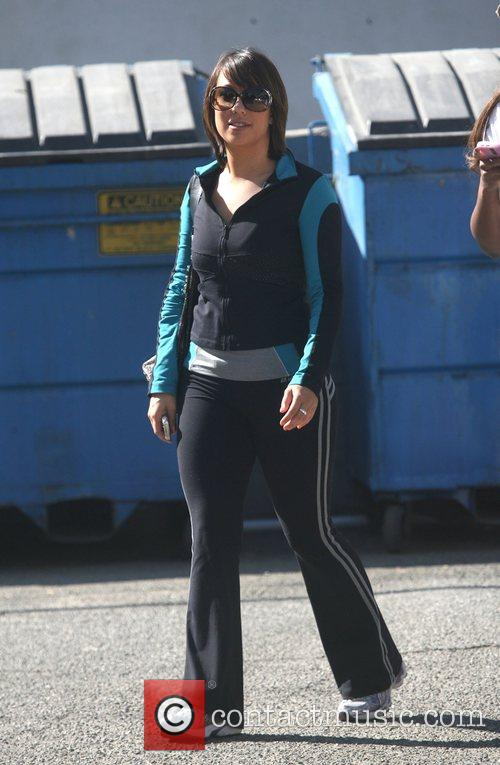Leaving rehearsals for TV show Dancing With The...