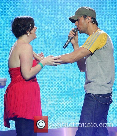 Enrique Iglesias  brings fan Jamie Lee Quinn...