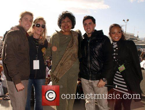 Aaron Carter, Daphna Zipper, Diane Watson, Colby O'donnis and Christina Milian 6