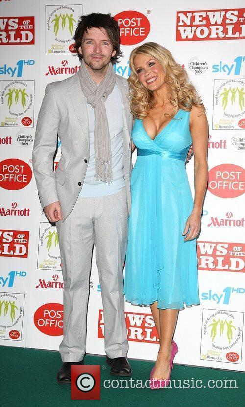 Melinda Messenger and husband Wayne Roberts Children's Champions...