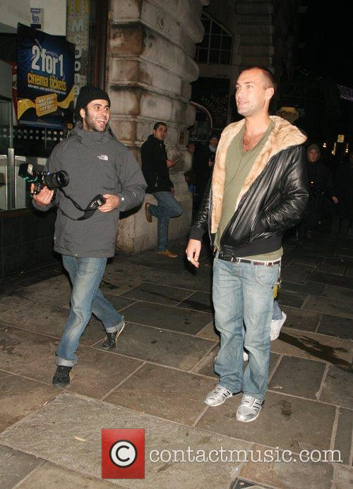 Calum Best leaving Chinawhite nightclub