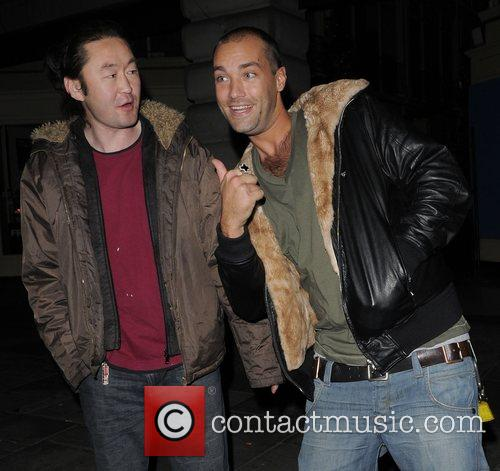 Calum Best leaving Chinawhite nightclub London, England