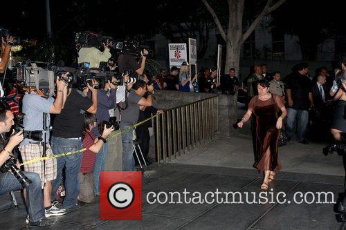 Joyce Hawkins arriving at Los Angeles County Court...