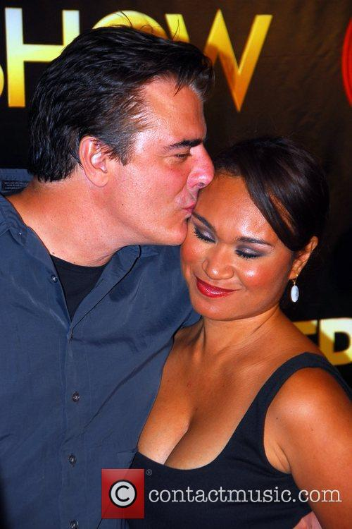 Chris Noth and girlfriend Tara The world premiere...