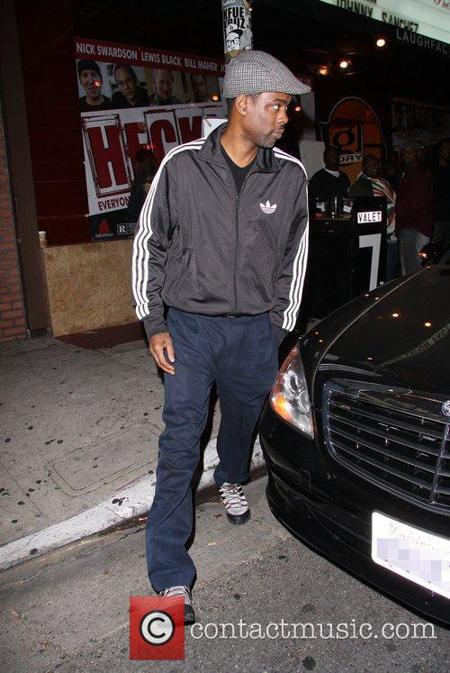 Chris Rock arriving at the Laugh Factory Los...