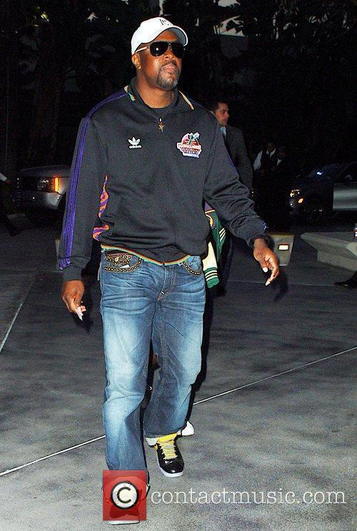 Chris Tucker arrives to watch the Los Angeles...