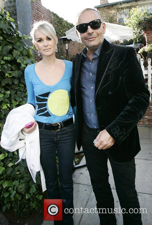 Christian Audigier and friend leaving the Ivy restaurant...