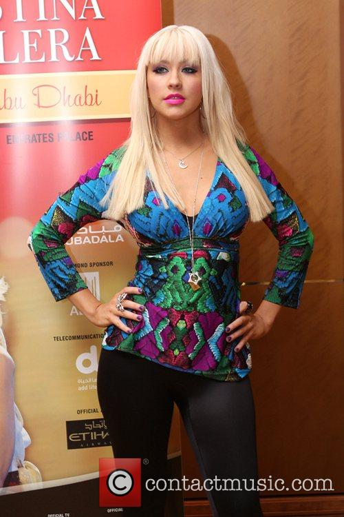 Christina Aguilera at a press conference for her...