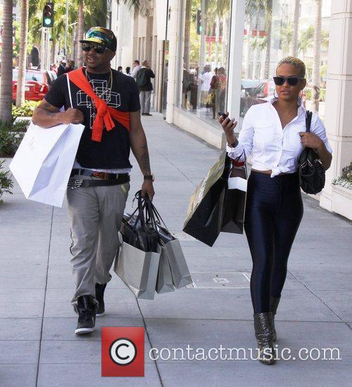 Christina Milian, Her Boyfriend The-dream, Aka Terius Nash and Shop On Rodeo Drive In Beverly Hills 3