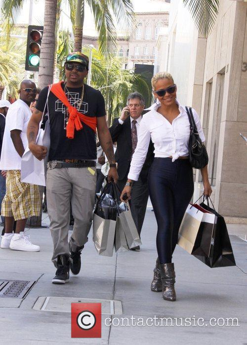 Christina Milian, Her Boyfriend The-dream, Aka Terius Nash and Shop On Rodeo Drive In Beverly Hills 1