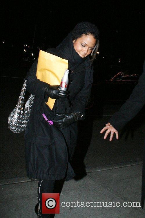 Christina Milian arrives at her Manhattan hotel New...