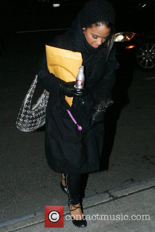 Christina Milian arrives at her Manhattan hotel