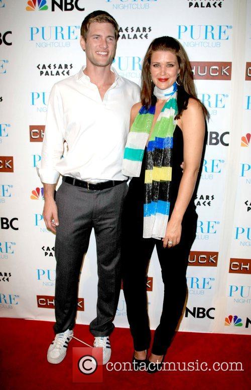 Ryan McPartlin and Sarah Lancaster Pure nightclub invited...
