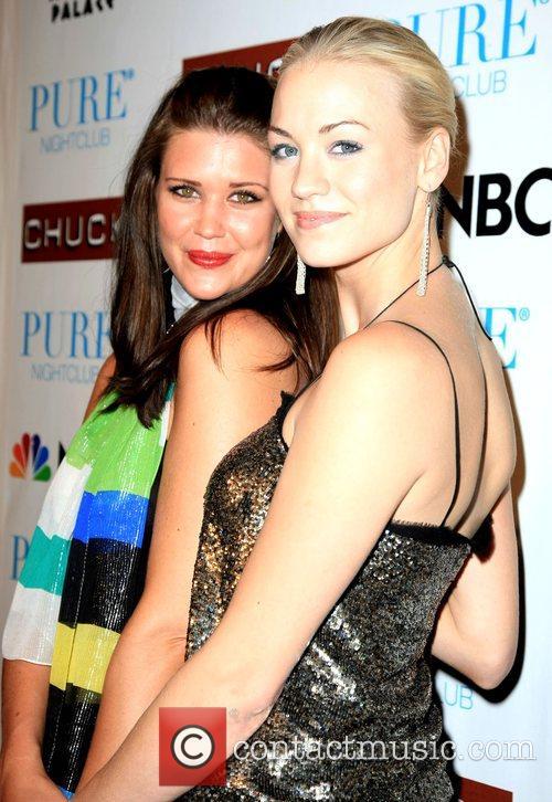 Sarah Lancaster and Yvonne Strahovski Pure nightclub invited...