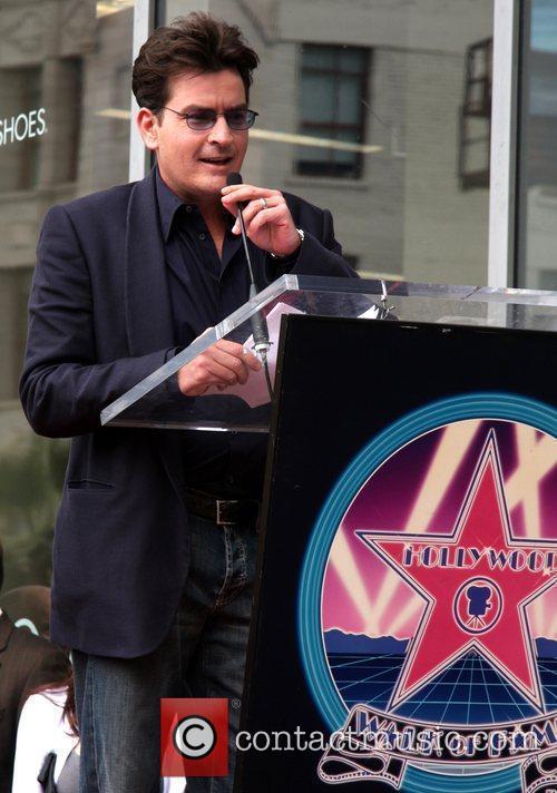 Charlie Sheen Hollywood Walk of Fame ceremony for...