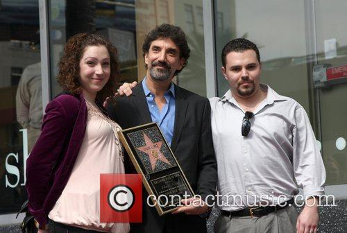 Chuck Lorre and his children Hollywood Walk of...