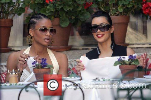 Ciara and Kim Kardashian 8