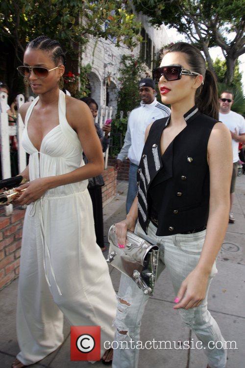 Ciara and Kim Kardashian 5