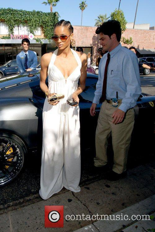 Ciara arrives at the Ivy restaurant to enjoy...